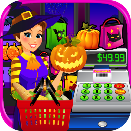Supermarket Halloween Simulator - Kids Grocery Store & Cash Register Games FREE -