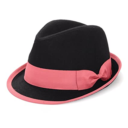 Image Unavailable. Image not available for. Color  Mad Style Dusty Pink - Felt  Fedora Hat ef5951fcf29