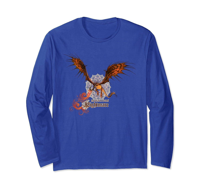 8e2527a59d43d Amazon.com: DreamWorks' Dragons: Monstrous Nightmare Long Sleeve T-Shirt:  Clothing