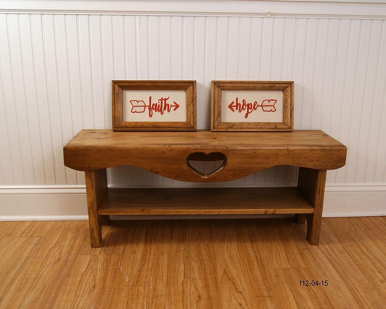 Fantastic Amazon Com Bedroom Bench Farmhouse Bench Shaker Bench Machost Co Dining Chair Design Ideas Machostcouk