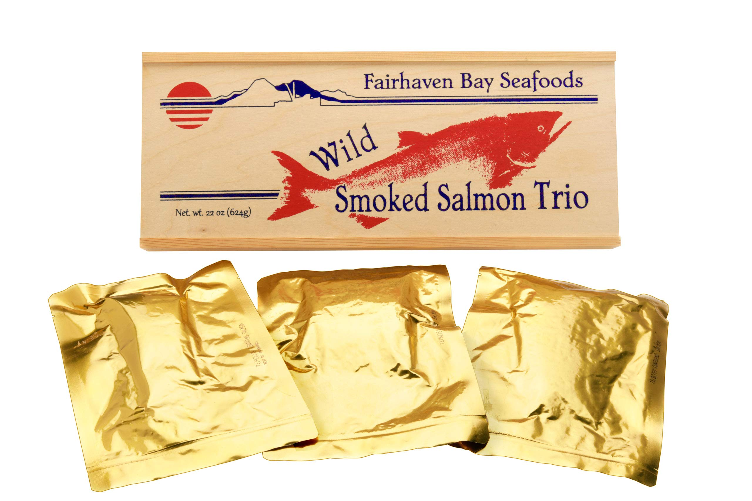 Smoked Salmon Trio, 22 Oz in Wood Legacy Gift Box