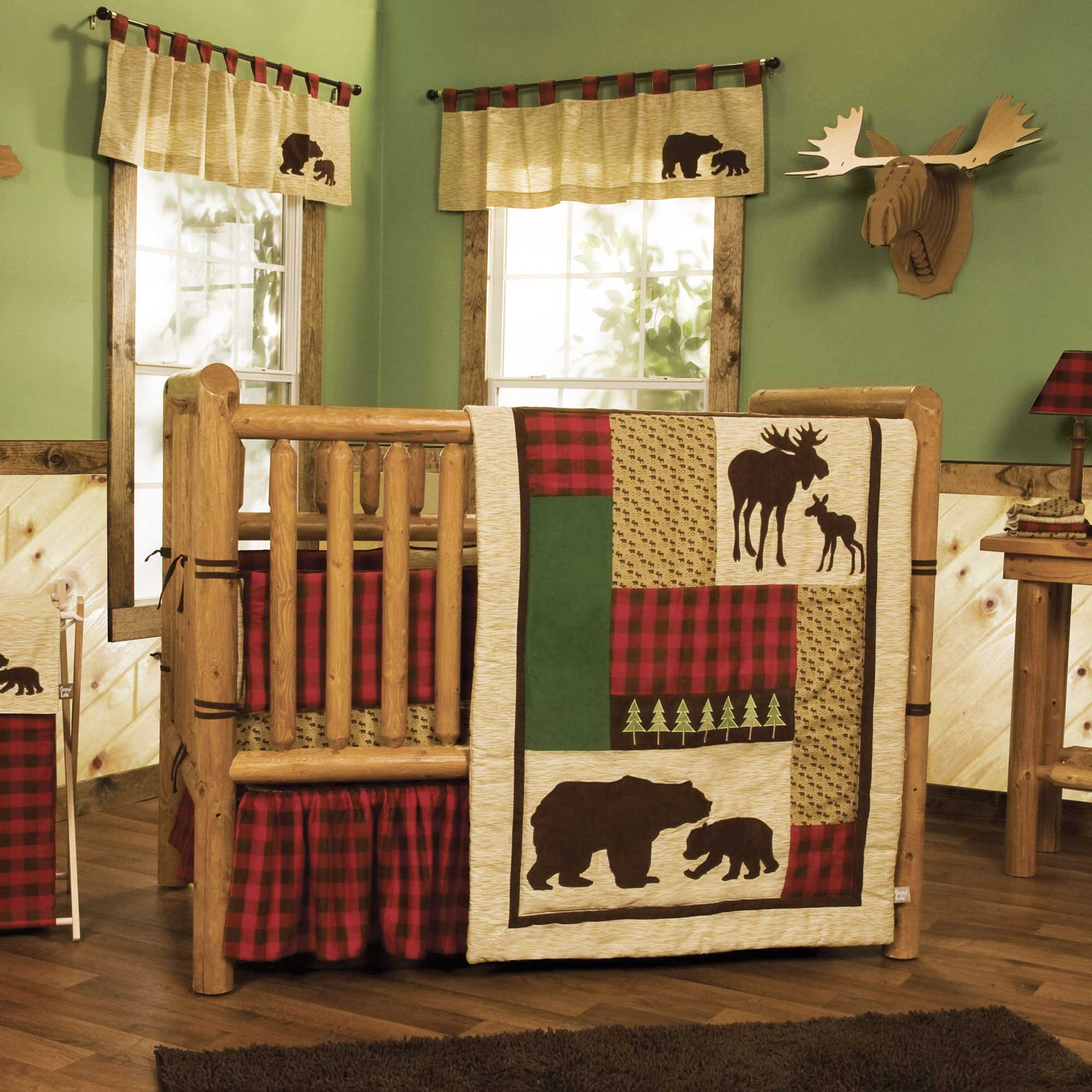 Northwoods 4 Piece Baby Crib Bedding Set with Bumper by Trend Lab by Trend Lab