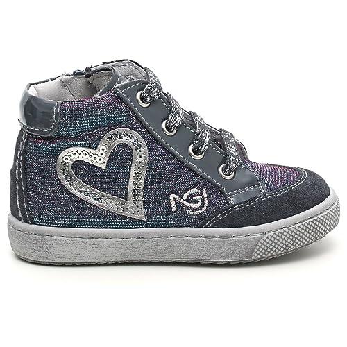 Nero Giardini Junior Sneaker Primi Passi Bambina COMOSCIO Tela con Zip  A420581F (21 2e50a2ad339
