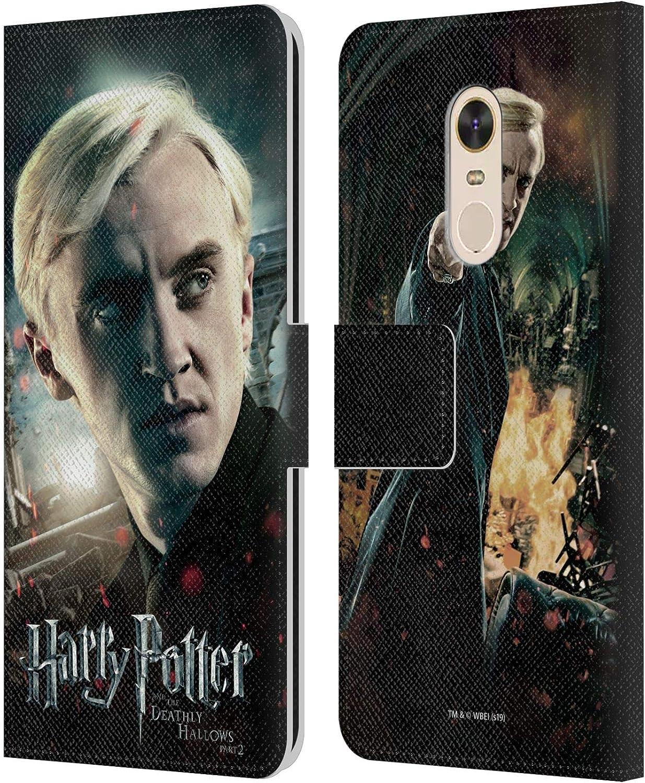 Head Case Designs Oficial Harry Potter Draco Malfoy Deathly Hallows VIII Carcasa de Cuero Tipo Libro Compatible con Xiaomi Redmi 5 Plus