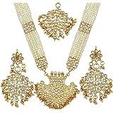 Prita's Bridal collection Kundan Pearl Rani Haar Necklace set for women