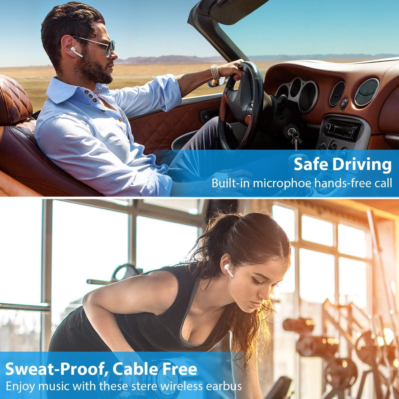 con Estuche de 950mAh Carga para All Smartphones PC 2020 New Auriculares Bluetooth,Auriculares Inal/ámbricos 5.0 Bluetooth t/áctiles Auriculares est/éreo Bluetooth IPX5 a Prueba de Agua