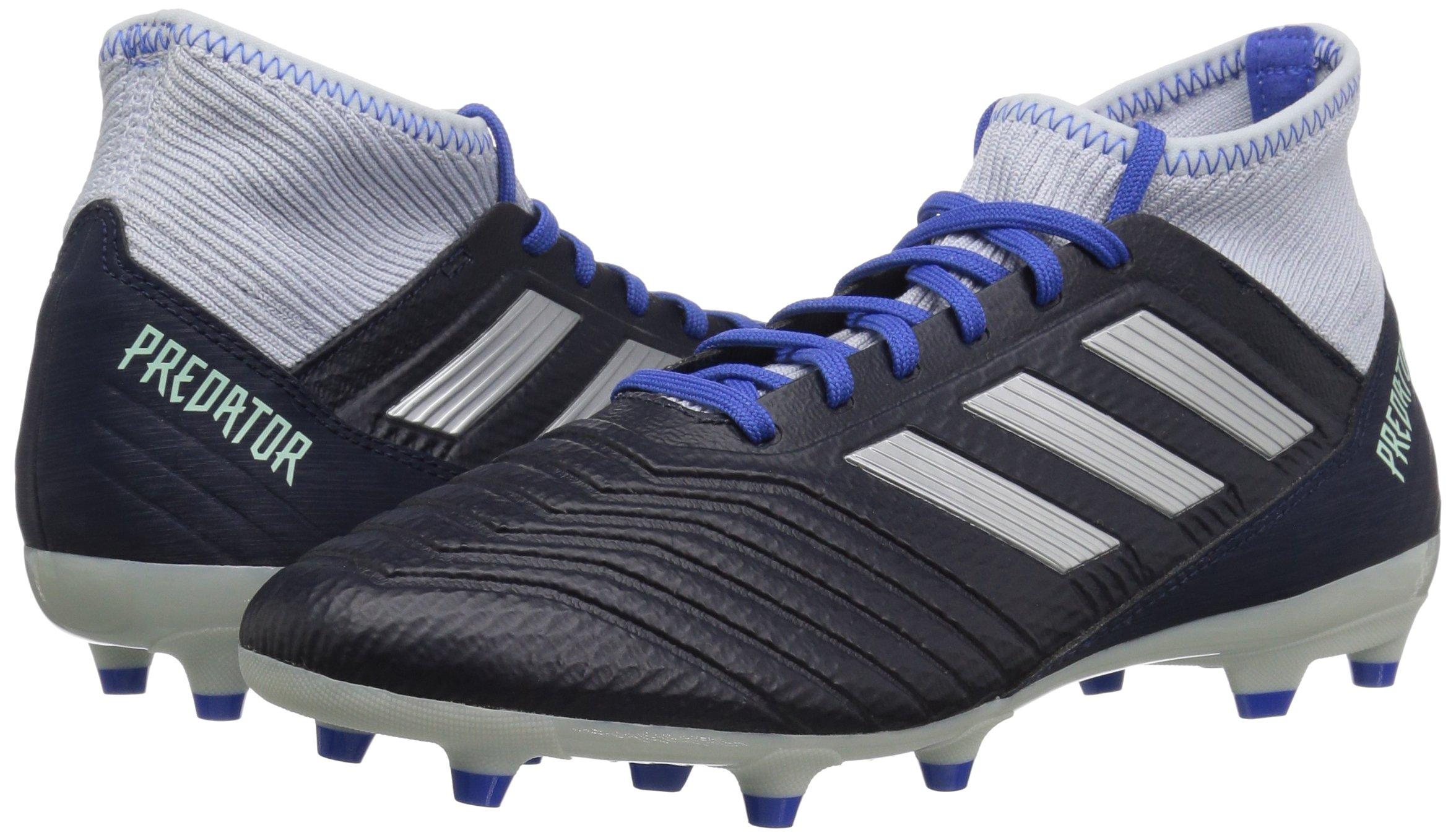 adidas Women's Predator 18.3 Firm Ground Soccer Shoe Legend Ink/Silver Metallic/aero Blue 5.5 M US by adidas (Image #5)