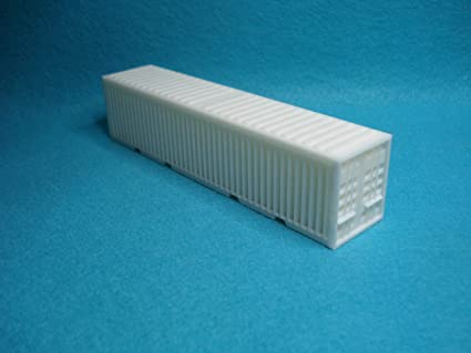 40 Shipping Container >> Amazon Com New Ho Scale 40 Shipping Container White Layout Ready