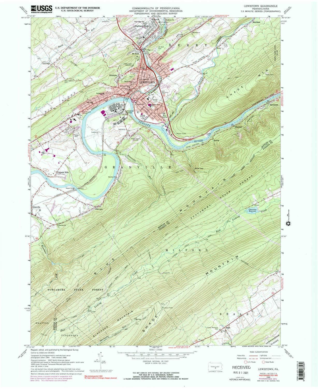 Lewistown pa map
