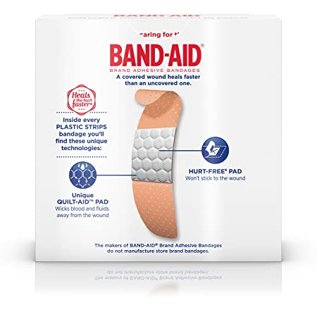 amazon com band aid brand plastic strips adhesive bandages for