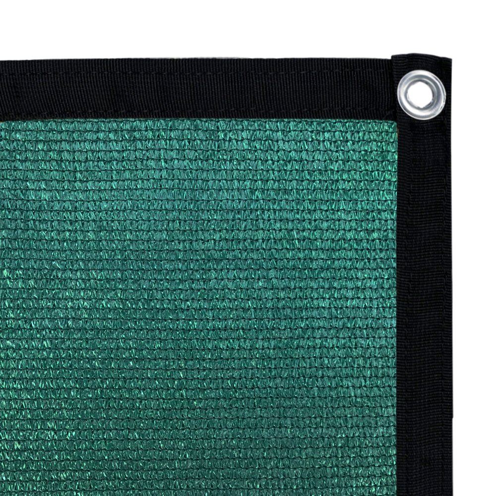 Shatex 90% Shade Fabric Sun Shade Cloth with Grommets for Pergola Cover Canopy 10' x 12', Dark Green