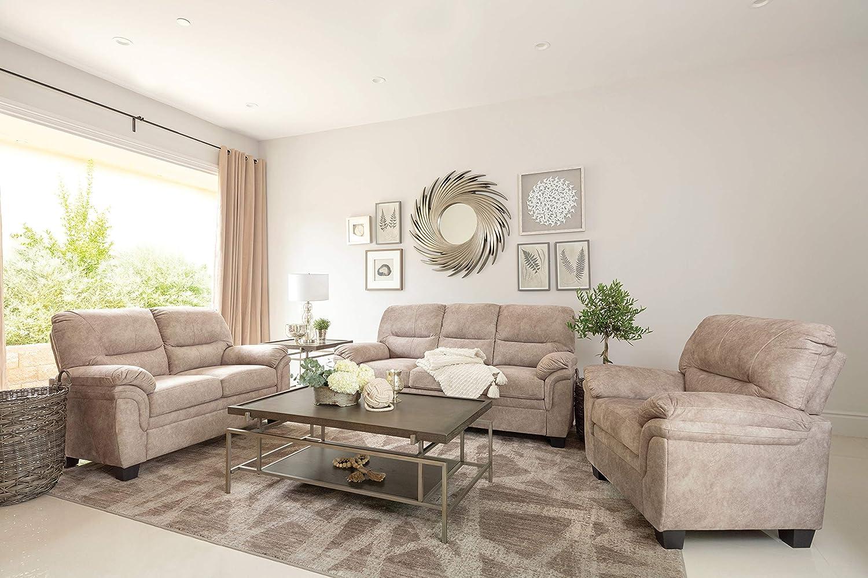 Coaster Home Furnishings Holman 2-Piece Pillow Top Arm Beige Living Room Set