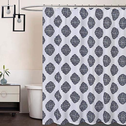 Amazon Com Caromio Extra Long Shower Curtain 96 Inch Medallion