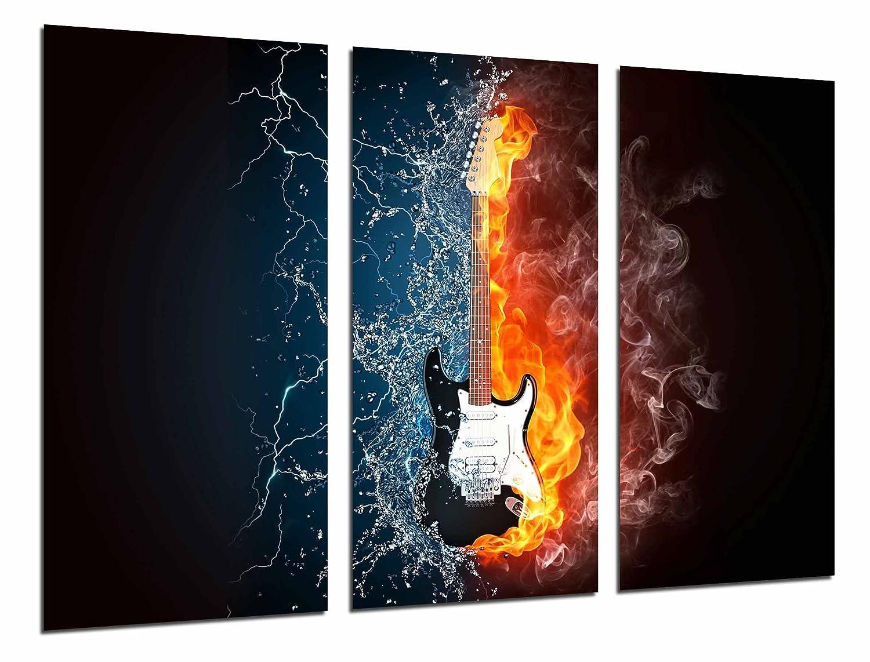 Cuadro Moderno Fotografico Guitarra Electrica Fuego y Agua, Fender Stratocaster, 97 x 62 cm, Ref. 26751: Amazon.es: Hogar