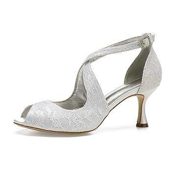 Correa Zapatos Encaje De Tiras Vestir Con Aimishoes Ladys Del CodxreB