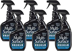 HOPE'S Perfect Glass Multi-Surface Purpose Household Spray, Kitchen Countertop Degreaser, Bathroom Shower and Sink Cleaner, Pack of 6, Streak Free, 6 Count