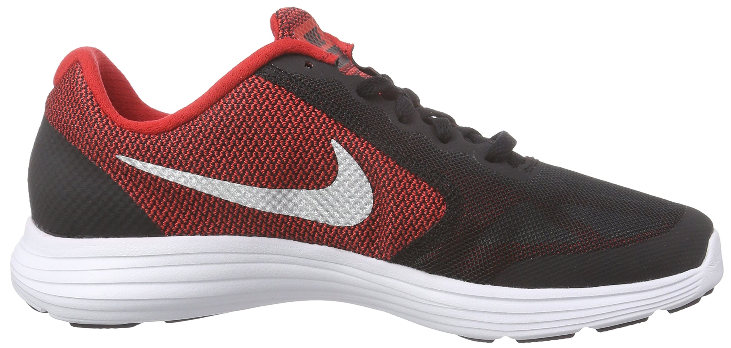 NIKE Boys' Revolution 3 Running Shoe (GS), University Red/Metallic Silver/Black, 4 M US Big Kid by Nike (Image #6)