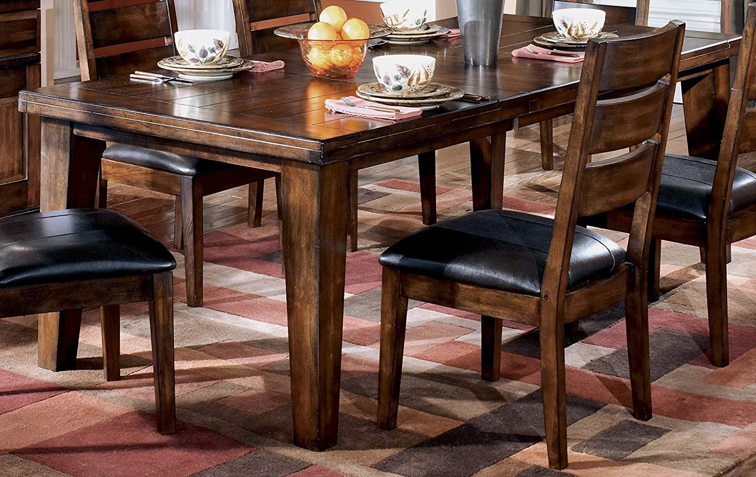 Rectangle Dining Room Tables Amazoncom Signature Design By Ashley D442 45 Larchmont