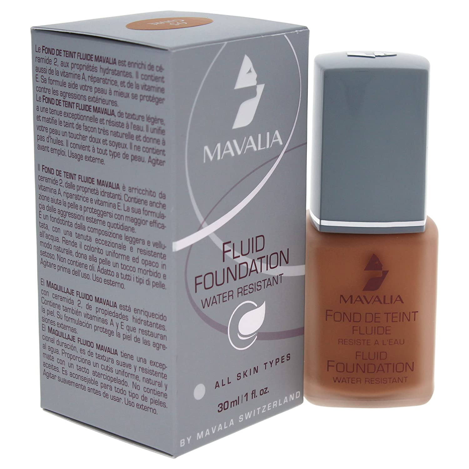 Amazon.com : Mavala Fluid Foundation, No.04 Hale, 1 Ounce : Foundation Makeup : Beauty