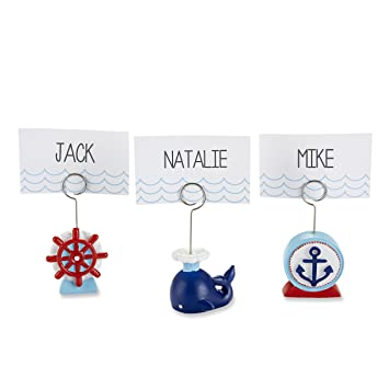 kate aspen set of 6 nautical place card holders assorted