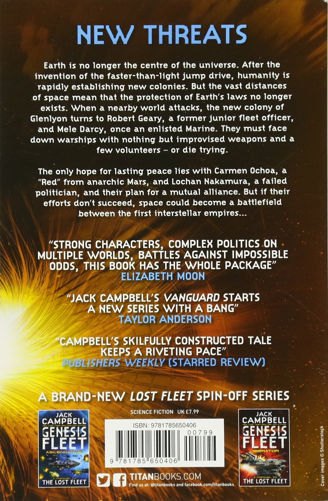 Genesis Fleet  Vanguard: Book 1 (the Genesis Fleet): Amazon: Jack  Campbell: 9781785650406: Books