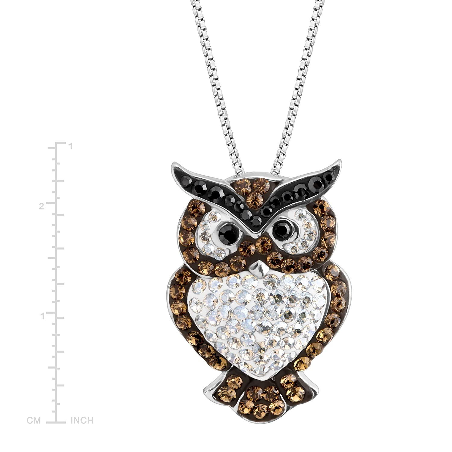 98fab9e4756f4 Amazon.com: Crystaluxe Owl Pendant Necklace with Swarovski Crystals ...