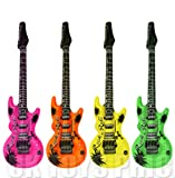 1 x 106 Centimeter Inflatable Guitar - Colour Varies