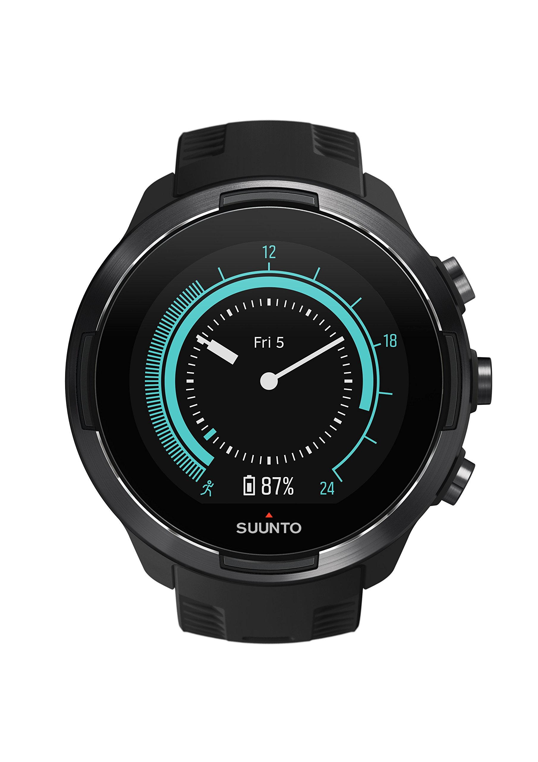 Suunto 9 GPS Sports Watch with Long Battery Life, Barometer and Wrist-Based Heart Rate (Black) by Suunto