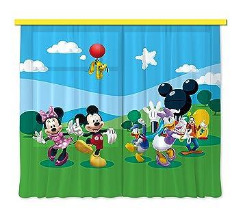 Amazon.de: Gardine/Vorhang FCS xl 4307 Kinderzimmer Disney Mickey Mouse