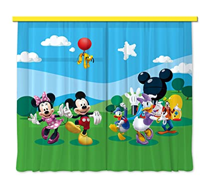 Gardine Vorhang Fcs Xl 4307 Kinderzimmer Disney Mickey Mouse