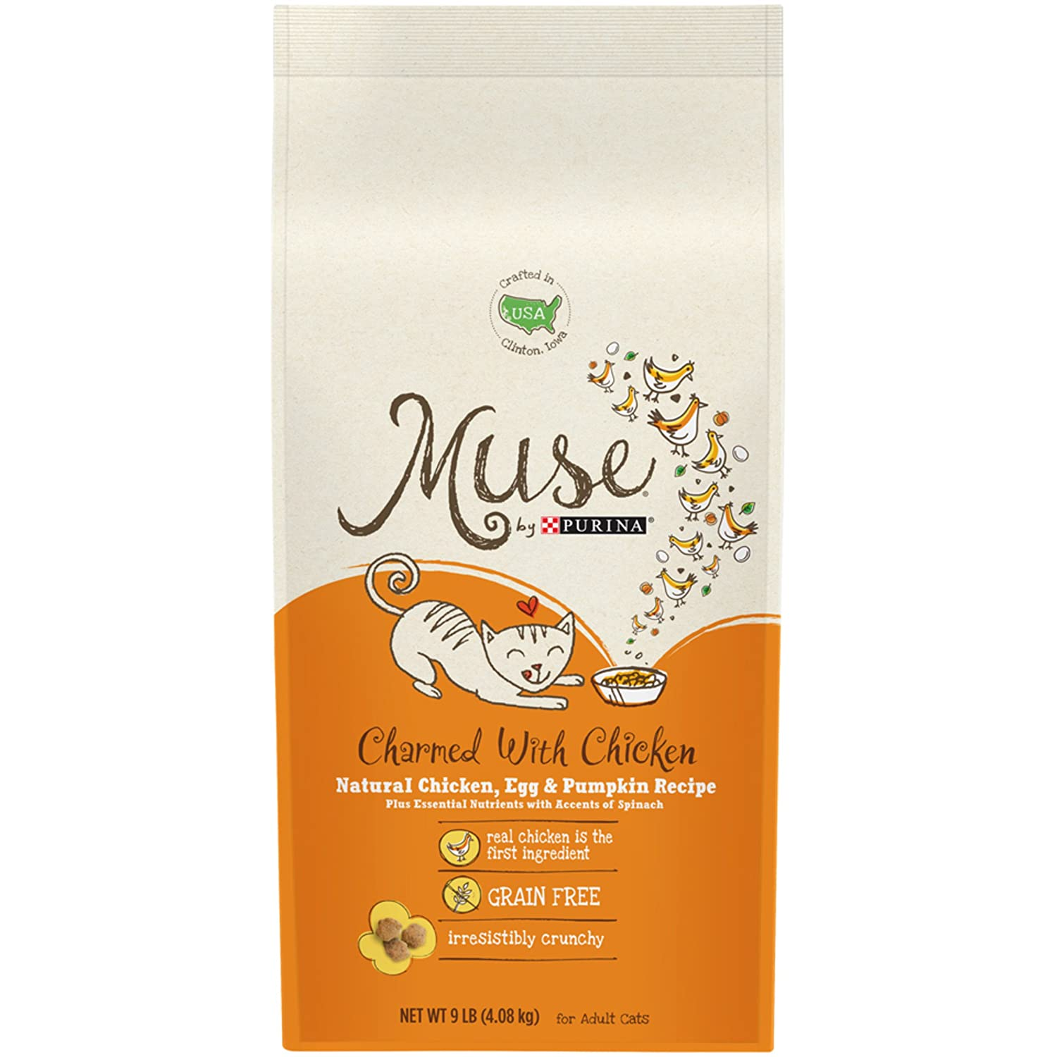 Muse By Purina Charmed With Chicken Natural Chicken, Egg & Pumpkin Recipe Adult Dry Cat Food