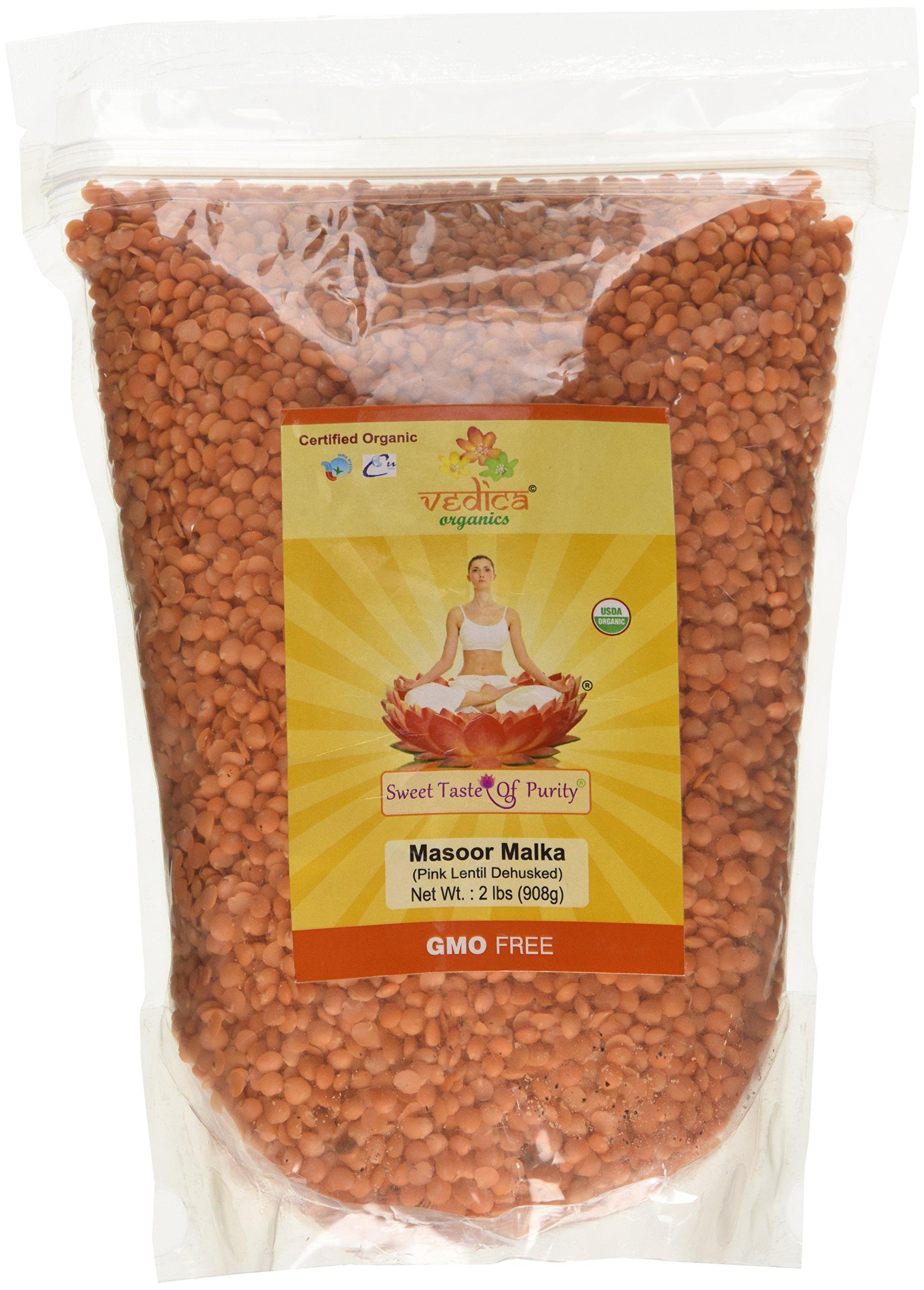 Organic Masoor Dal Mogar/Masoor Malka (Pink Lentil Dehusked) (2 Lbs)