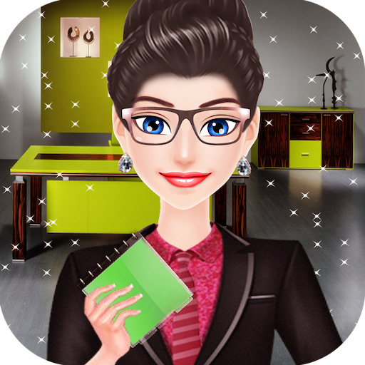 Office Girl Dress Up: Office Room Decoration