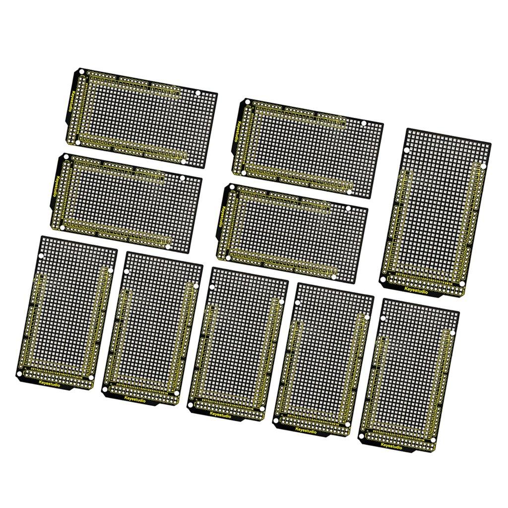 MagiDeal 10 Piece Prototype PCB For Arduino MEGA 2560 R3