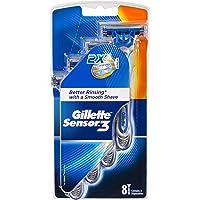 Gillette Sensor3 Men's Disposable Shaving Razors, 8 Pack, Mens Razors/Blades