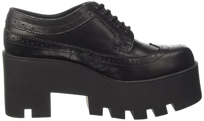 De Negro Black Mujer Smith Foxy Cordones Brogue Zapatos Para Windsor Nvm08wn
