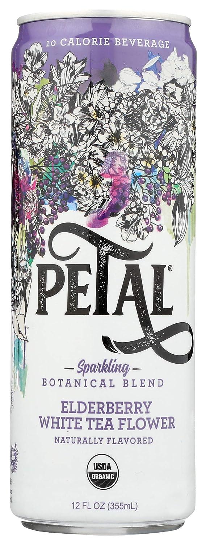Petal, Sparkling Botanical Blend, Elderberry White Tea Flower, 12 Fl Oz