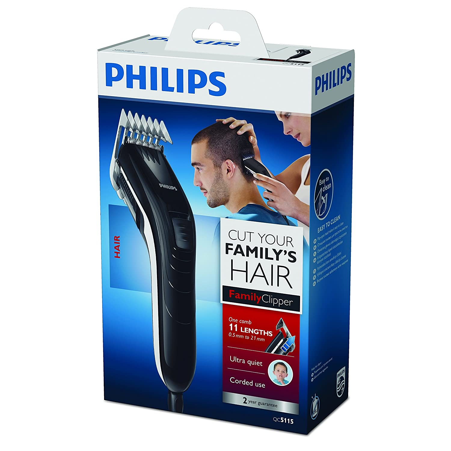 Philips Series 3000 Hair Trimmer 11 Lengths QC5115 15 Black  Amazon.co.uk   Health   Personal Care d73def7c2b
