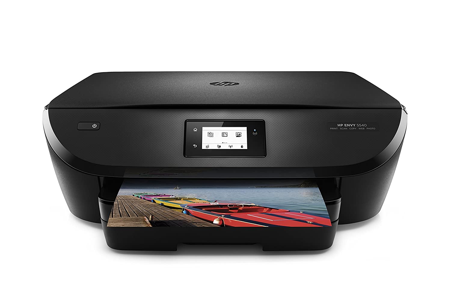 HP Envy 5540 - Impresora multifunción inalámbrica (Wi-Fi, b/n 12 ppm, Color 8 ppm), Color Negro