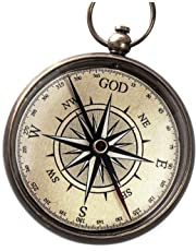 God is My Guide Compass with Display Stand--Unique | Uplifting | Heavenly Gift of Faith. The Perfect Baptism Gift, Missionary, Birthday, or Confirmation Gift