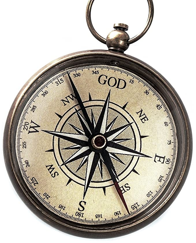 God is My Guide Compass with Display Stand-Unique | Uplifting | Heavenly Gift of Faith. The Perfect Baptism Gift, Missionary, Birthday, or Confirmation Gift