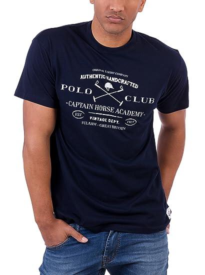 POLO CLUB Camiseta Manga Corta Academy Vintage Tshirt Azul Marino ...