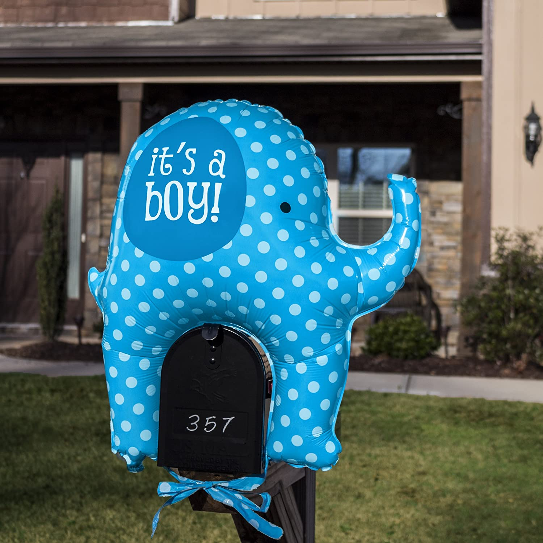 Welcome Home Baby Its a Boy Blue Elephant Mailbox Balloon BETALLIC BALLOON SG/_B01MUNQH85/_US