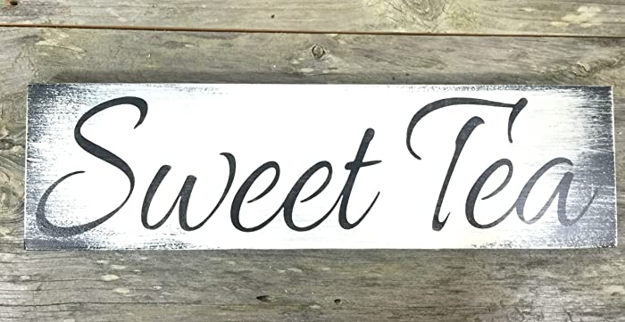 Rustic Sweet Tea Wood Sign   Farmhouse Signs And Decor   Kitchen Decor