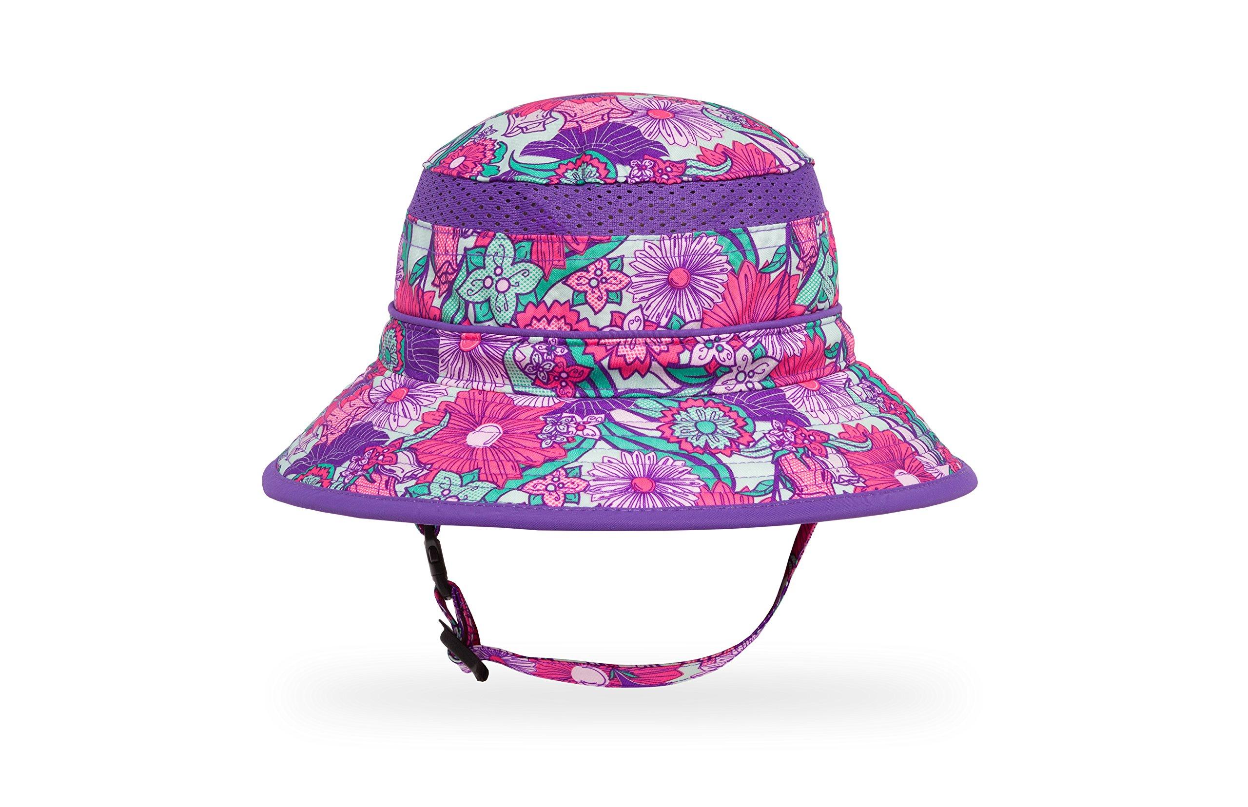 Sunday Afternoons Kids Fun Bucket Hat, Flower Garden, Large