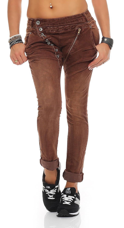 2d3c8cca436 SKUTARI - Jeans - Imprimé Aztèque - Femme Marron marron M  Amazon.fr   Vêtements et accessoires