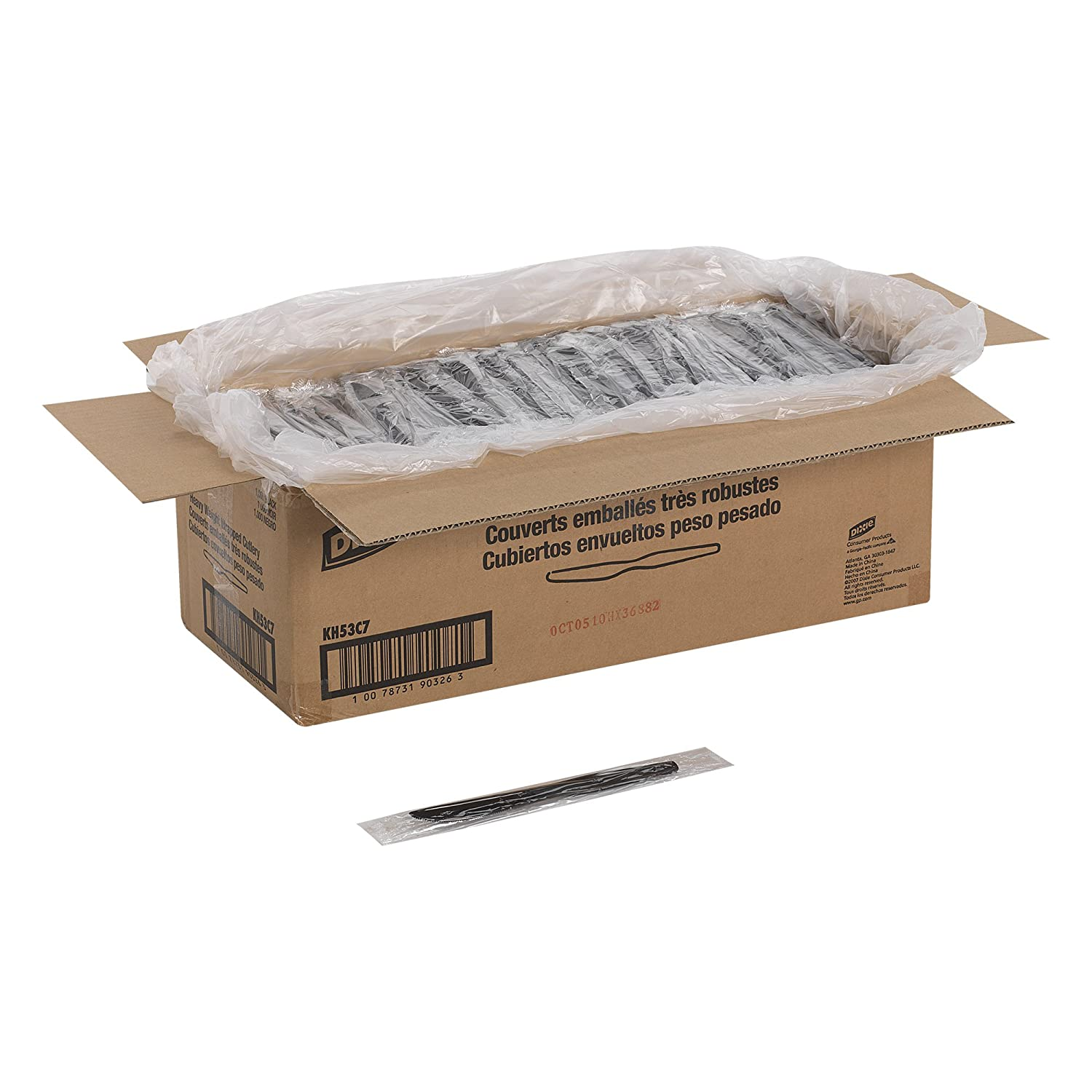 Amazon.com: Dixie KH53C7 Heavy Weight Polystyrene Knife, Individually Wrapped, 7.5