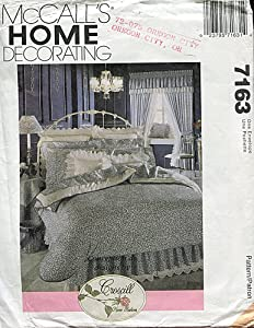 McCall's Home Decorating Pattern 7163 ~ Bedroom Decor Package