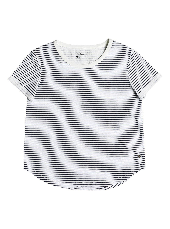 Roxy Womens Love Sun - Tee - Women - S - White Marshmallow Thin Stripe S