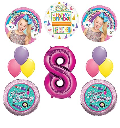 JoJo Siwa Party Supplies Dream Crazy Big 8th Birthday Balloon Bouquet Decorations